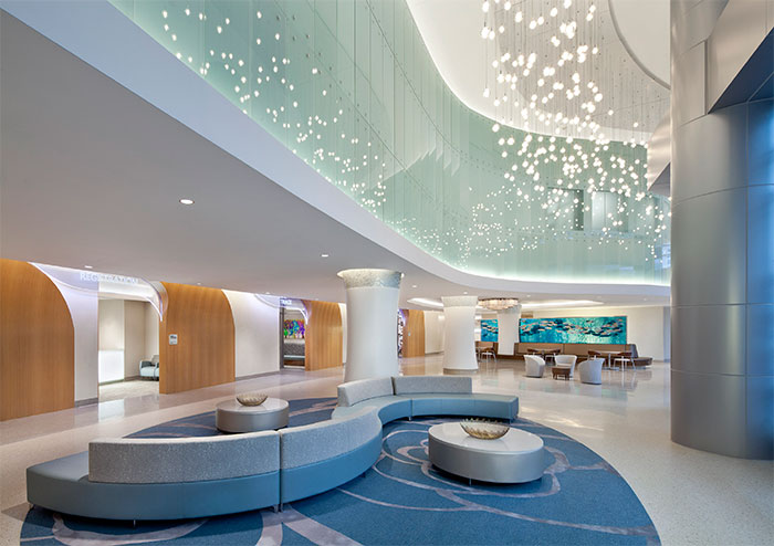 Florida hospital for women wins interior design award for Design wellness hotel