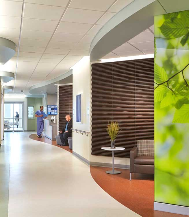 Metro Health Campus Critical Care Pavilion nature imagery