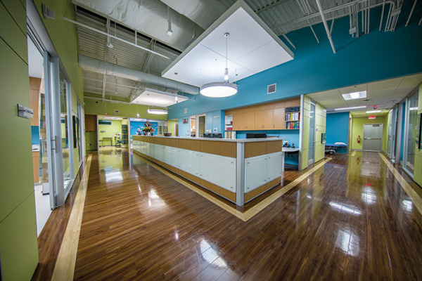 Modular casework from DIRTT in the Neighbors Emergency Center, Houston