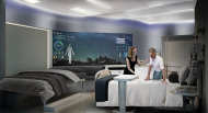 Concept patient room configured for overnight stay