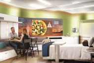 Concept patient room configured for dining