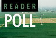 Gundersen Health System wind farm and Reader Poll logo