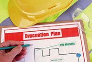 Emergency Evacuation Plan on Clipboard