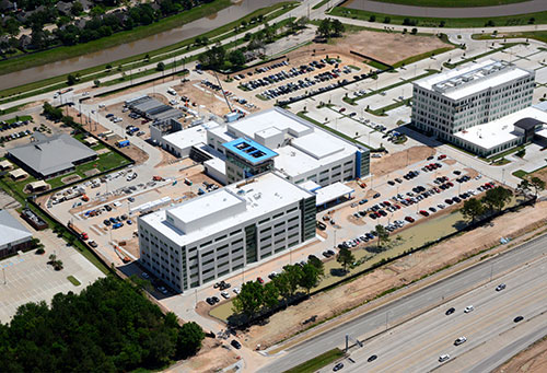 Memorial Hermann Cypress aerial view