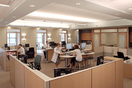 Mass General staff area in the Ambulatory Practice of the Future