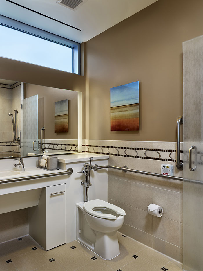 Northwestern Medicine Central DuPage patient bathroom