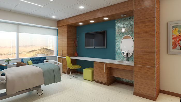 King Abdullah Medical Center patient room