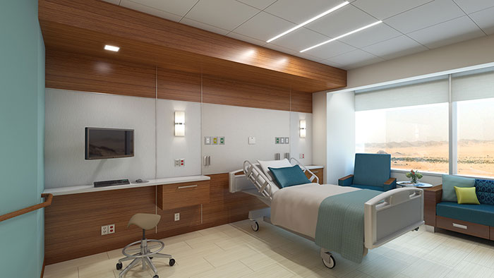 King Abdullah patient room lighting