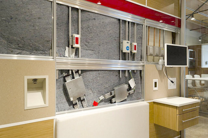 DIRTT Environmental Solutions Layered Construction Allows Access To Wall Cavities Without Cutting