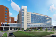 Rendering of Methodist University Hospital expansion