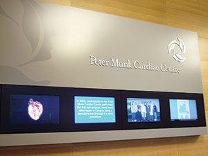 wayfinding system at Peter Munk Cardiac Centre, Toronto