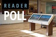 Digital signage and reader poll logo