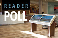 Digital signage and reader poll logo