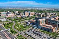 Aerial view of CU Anschutz Medical Campus