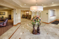 Lobby of apartment building