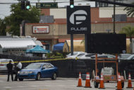 Officers outside of Pulse Nightclub following Orlando mass shooting