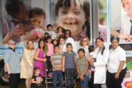 Nicklaus Children's Hospital celebrates the unveiling of its mobile dental unit