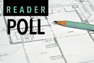 Architectural drawings with reader poll logo