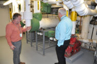 Hospital for Special Care engineers inspect steam trap system