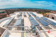 Dell Children's Hospital rooftop solar panel
