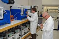 U.S. Water Scientists working in lab