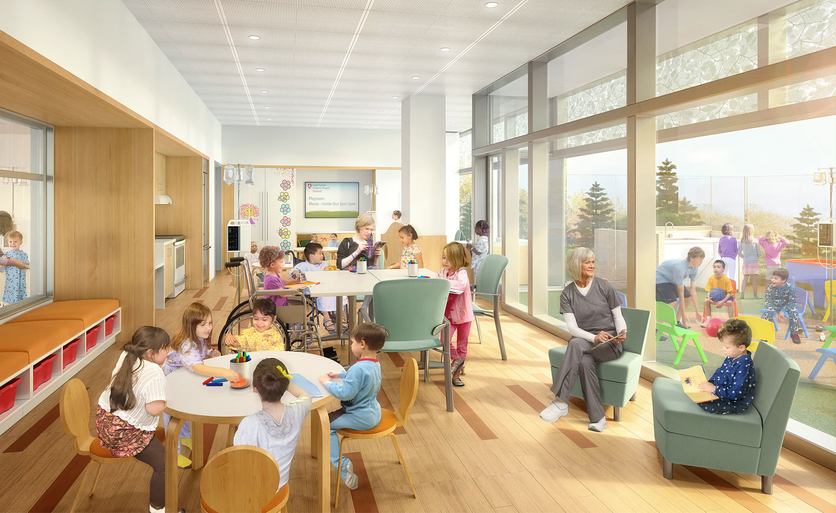 The New Lucile Packard Childrenu0027s Hospital Stanford, Palo Alto, Calif., Is  On Track To Open In December When The Facility Plans To Transform The  Patient ...