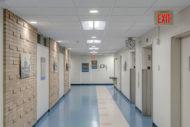 McLaren Health hallway with LED lighting
