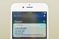 Position Health geolocation app notification