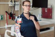 Vocera hands-free clinician communication badge