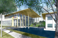 Rendering of UF Health facility at Wildlight community development