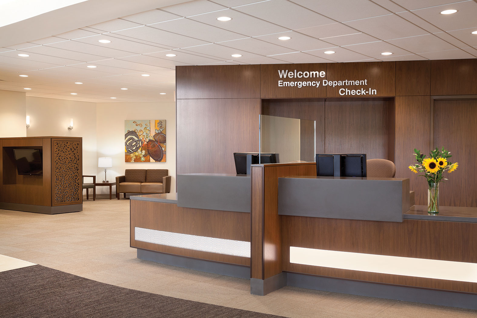 Hospital Check In Area : Hospital designs to bolster security health