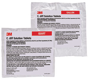 Clostridium difficile solution tablets