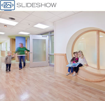 University of Minnesota Masonic Children's Hospital behavioral health department activity room