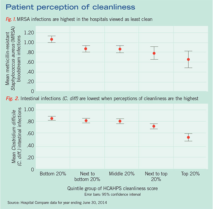 Perception of cleanliness chart