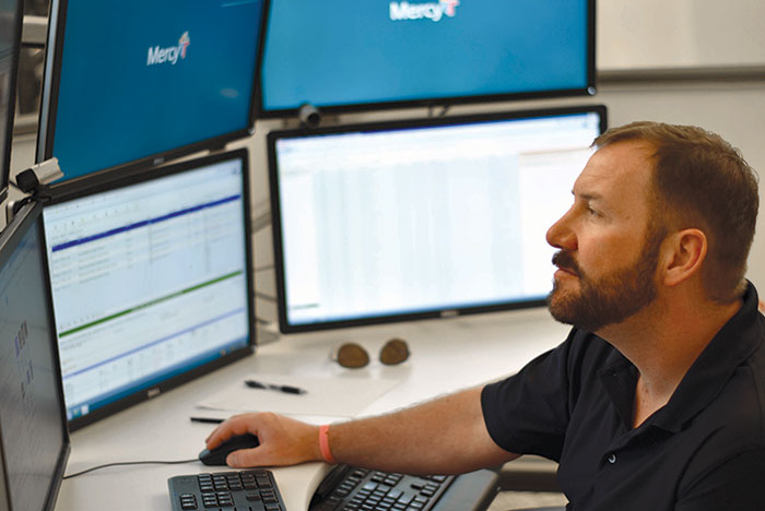 Mercy Virtual Care Center tech monitoring