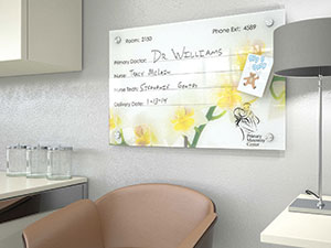 Healthboard glass dry-erase board