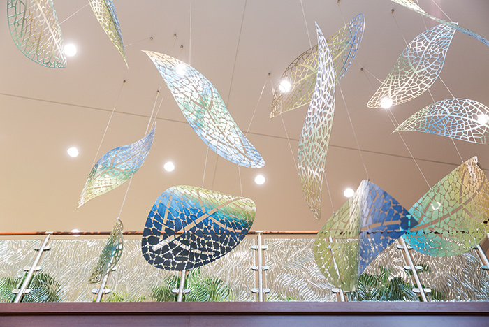 AMITA Health Cancer Institute lobby sculpture