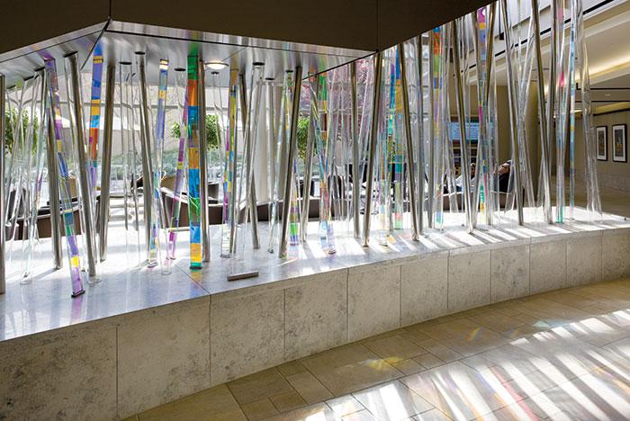 El Camino Hospital's 'Light Forest' sculpture brings natural