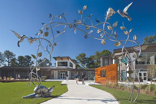 archway sculpture at Rollins Campus