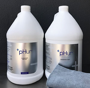 pHur cleaning and disinfecting waters