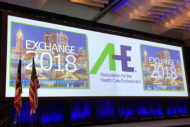 AHE EXCHANGE Conference podium