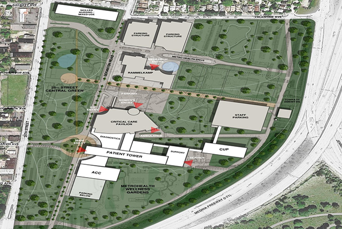 Cleveland campus to transform into 'Hospital in a Park ... on kaiser permanente campus map, unc health care campus map, metro campus map, westlake campus map, newton-wellesley hospital campus map, nasa campus map, cwru campus map, boston scientific campus map, marymount campus map, mgh campus map, yale campus map, southwest general campus map, general motors campus map, summa campus map, hackensack university medical center campus map, uh campus map, vidant medical center campus map, st vincent's campus map, cleveland clinic campus map, carolinas medical center campus map,
