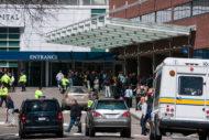 Police outside hospital