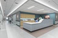 Well-lit nurses station