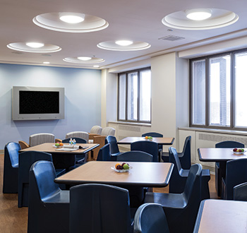 This Dining Room Is Part Of A New Behavioral Health Care Facility Designed By The Healthcare Architecture Group And Located At Kingsbrook Jewish