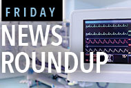 Patient heart monitor and Friday News Roundup logo