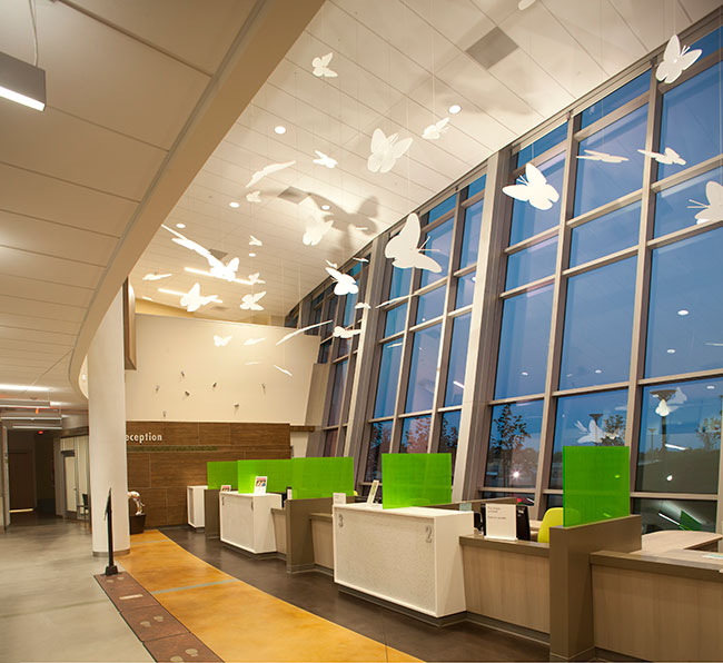 Hospital Check In Area : New medical office building features smart design