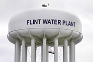 Flint, Michigan water tower