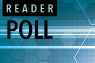 Illustrated technology graphic with Reader Poll logo