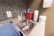 medical facility sink area